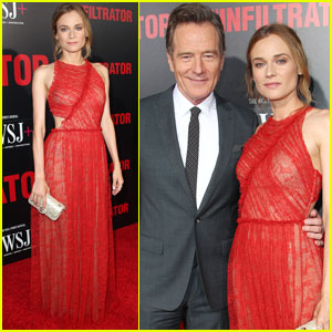 Diane Kruger & Bryan Cranston Premiere 'The Infiltrator' in NYC
