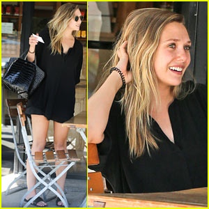 Elizabeth Olsen Chats It Up On Her Lunch Date!