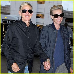 Ellen DeGeneres & Portia de Rossi Are All Smiles in Los Angeles