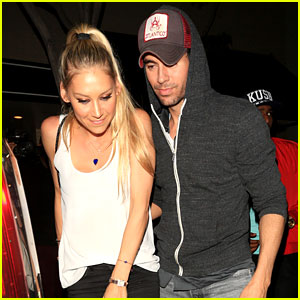 Enrique Iglesias & Anna Kournikova Step Out for Rare Date Night