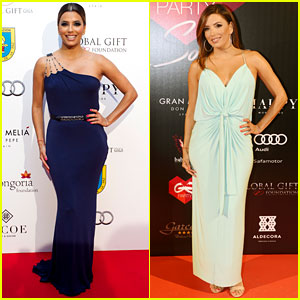 Eva Longoria Attends Global Gift Gala Events in Spain