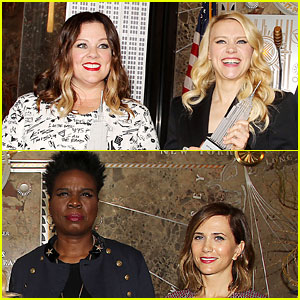 'Ghostbusters' Stars Promote Movie at Empire State Building!