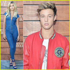 Hailey Baldwin & Cameron Dallas Celebrate 'Guess' Fragrance