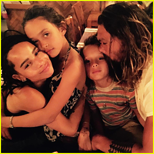 Jason Momoa Shares Loving Pic Of Zoe Kravitz & Kids!