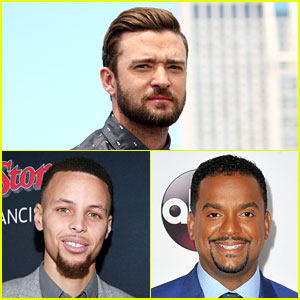 Justin Timberlake, Steph Curry, & Alfonso Ribeiro Dance 'The Carlton' Together - Watch Now!