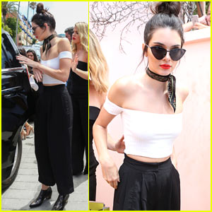 4630d585c7c Kendall Jenner Spends the Day at the Horse Races with Her Family