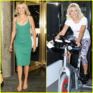 Malin Akerman Sweats It Out In Style At LG SideKick Fitness Event!