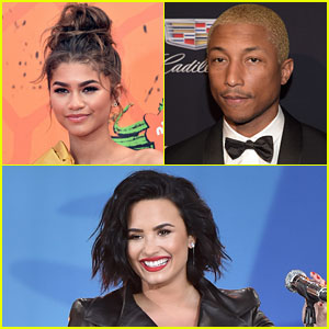 Demi Lovato, Zendaya, & Pharrell Favorite Tweets in Favor of Kim Kardashian & Kanye West's Phone Call Video