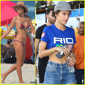 Alessandra Ambrosio Makes the Most of Her Time in Rio!