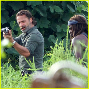 Andrew Lincoln Films Intense 'Walking Dead' Scene with Danai Gurira!