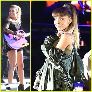 Ariana Grande & Rachel Platten Play Billboard's Hot 100 Festival With Nathan Sykes