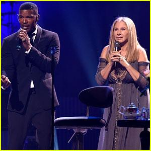 Barbra Streisand Duets with Jamie Foxx & Patrick Wilson in Concert!