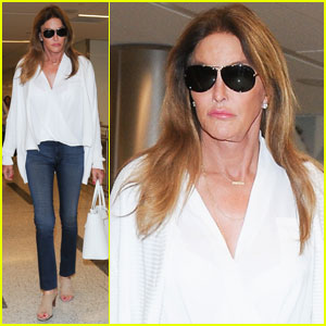 Caitlyn Jenner Makes a Low-Key Landing at LAX From London