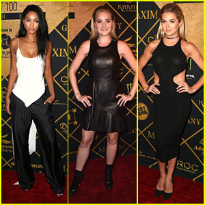 Chanel Iman Hits Maxim Hot 100 Party with AJ Michalka