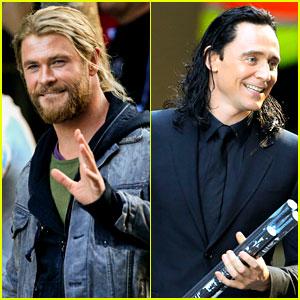 Tom Hiddleston Shares Loki & Thor Throwback Photo with Chris Hemsworth!