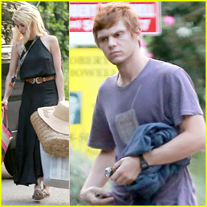 Emma Roberts & Evan Peters Reunite For Friends' House Party