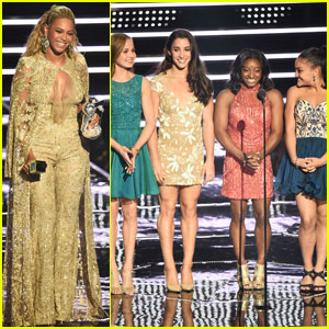 The Final Five Gets Hugs From Beyonce While Presenting at MTV VMAs 2016 (Video)