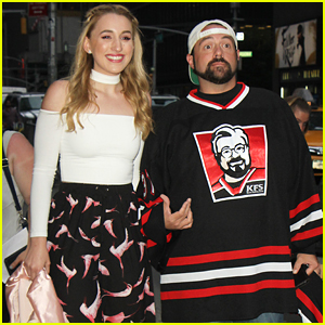 Harley Quinn Smith & Dad Kevin Promote 'Yoga Hosers' in NYC