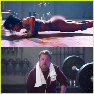 James Corden Inserts Himself Into Kanye West's 'Fade' Video with Teyana Taylor!