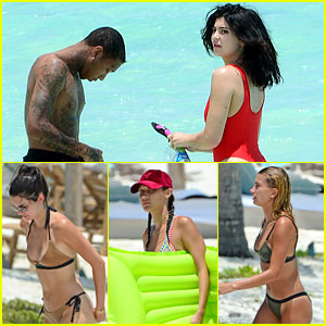 Kylie Jenner Celebrates 19th Birthday at the Beach with Tyga, Kendall, & More!