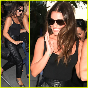 Lea Michele Rocks Hot Leather Pants for Adele's Concert