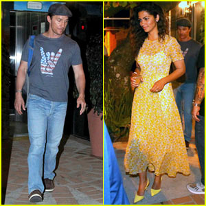 Matthew McConaughey & Camila Alves Enjoy a Date Night During the Rio Olympics 2016!