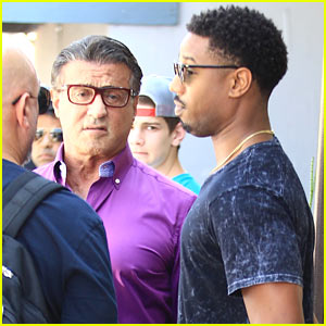 Michael B. Jordan & Sylvester Stallone Grab Lunch Together in Beverly Hills