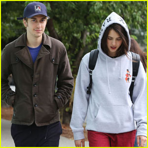 Nat Wolff Takes a Stroll With 'Death Note' Pal Margaret Qualley