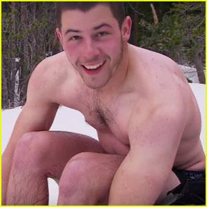 Watch Nick Jonas Strip Down to His Underwear on 'Running Wild with Bear Grylls'!