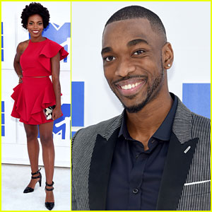 SNL's Sasheer Zamata & Jay Pharoah Arrive for MTV VMAs 2016