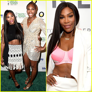 Serena Williams Flashes Her Bra at Pre-US Open Event