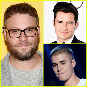 Seth Rogen Reacts to Size of Justin Bieber & Orlando Bloom's Manhood