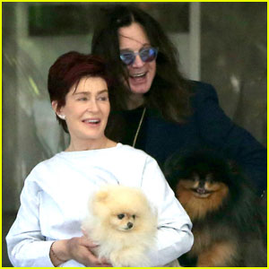 Ozzy & Sharon Osbourne Smile While Working on Their Marriage