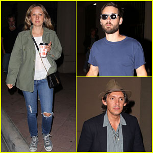 Tobey Maguire Checks Out Radiohead with His Wife & BFF