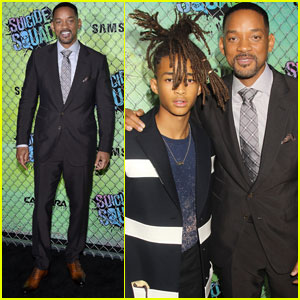 Will Smith Brings His Son Jaden to the 'Suicide Squad' Premiere