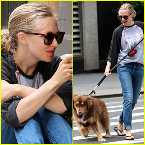 Amanda Seyfried Shares Cute Pic of Dog Finn in a Studded Hat
