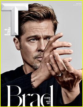 Brad Pitt Talks Donald Trump & Brexit for 'T' Men's Fashion Issue