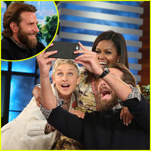 Bradley Cooper Surprises 'Ellen' Audience, Snaps Perfect Selfie with Michelle Obama - Watch Now!