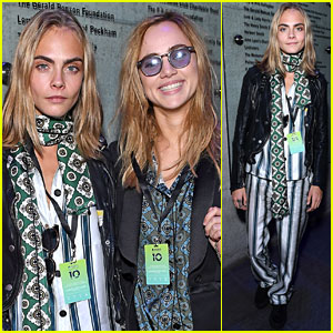 Cara Delevingne & Suki Waterhouse Stop By Apple Music Festival