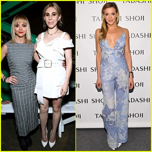 Christina Ricci, Zosia Mamet, & Katie Cassidy Step Out for NYFW Shows!