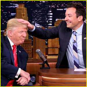 Donald Trump's Hair Gets Messed Up by Jimmy Fallon (Video)
