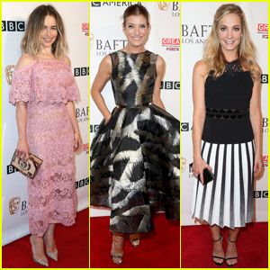 Emilia Clarke & Kate Walsh Step Out for BAFTA's Tea Party 2016