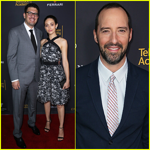 Emmy Rossum Supports Fiance Sam Esmail At Emmys Writers Nominee Dinner!