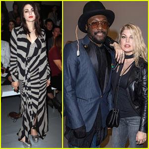 Fergie, Will.I.Am, & Frances Bean Cobain Go Punk at Gareth Pugh Show During London Fashion Week!