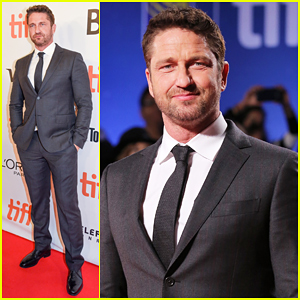 Gerard Butler Suits Up For 'The Headhunter's Calling' TIFF 2016 Premiere!
