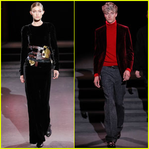 Gigi Hadid & Lucky Blue Smith Walk the Tom Ford Runway