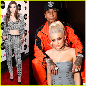 Kylie Jenner & Tyga Party with Hailee Steinfeld at Nylon's Rebel Fashion Event
