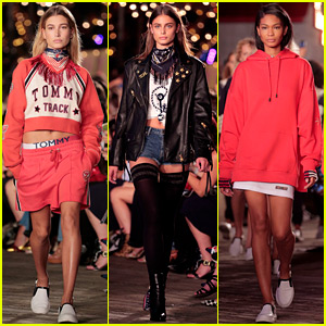 Hailey Baldwin, Taylor Hill, & Chanel Iman Model Pal Gigi Hadid's Collaboration with Tommy Hilfiger!