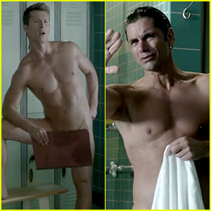 John Stamos & Glen Powell Strip Down in 'Scream Queens' Promo - Watch Now!