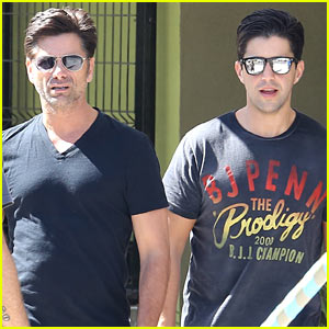 John Stamos Goes Out With 'Grandfathered' Co-Star Josh Peck